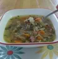Delicious Healthy Chicken and mushroom soup