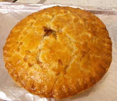 P Rabbit pie baked
